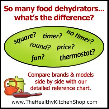 Click to view Food Dehydrators Comparison Chart - Compare All Models