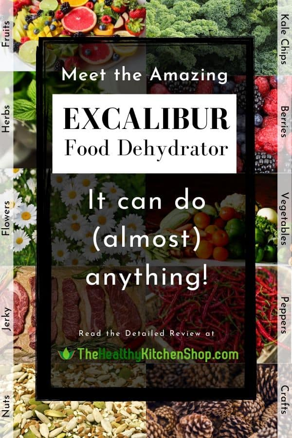 The Amazing Excalibur Food Dehydrator can do (almost) anything! Read complete review here.