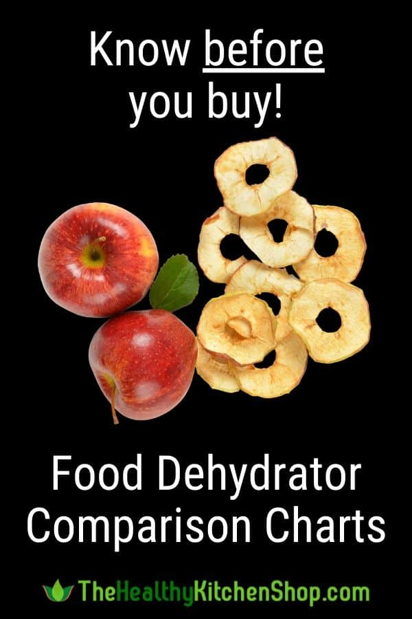 Food Dehydrator Comparison Charts - Know Before You Buy!