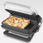 George Foreman GRP4EP Platinum Evolve Grill with 2 Grill Plates, 1 Deep-Dish Bake Pan and 1 Mini Burger Insert