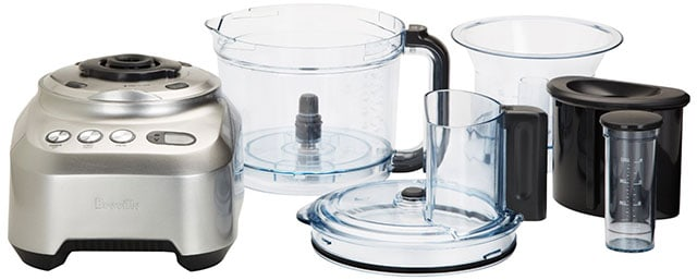 Breville Sous Chef Base Unit, Bowls, Lid, Feed Chute Pushers
