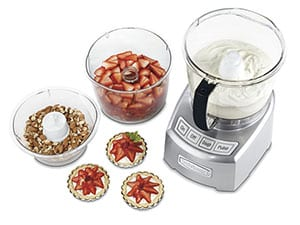 Cuisinart FP-14DC Elite Collection 14-Cup Food Processor comes with 3 Work Bowls