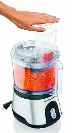Hamilton Beach 10-Cup Food Processor - Feed Chute Size