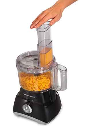 Hamilton Beach 70740 Food Processor view showing feed chute