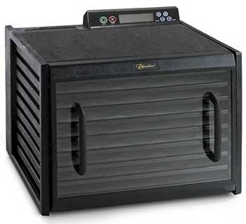 Excalibur 3948CDB 9 Tray Food Dehydrator with Clear Door In Place