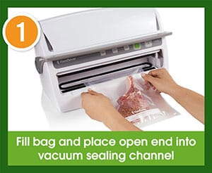 FoodSaver 3240 Vacuum Sealing System Operation - Step 1