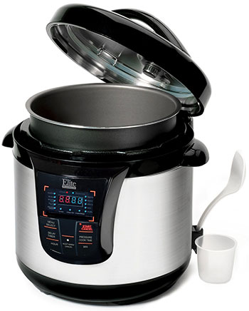 Elite Platinum Pressure Cooker - Open View