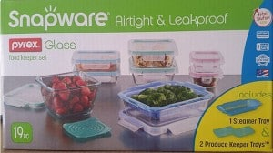 Snapware Pyrex Glass Food Keeper Set, 19 Piece