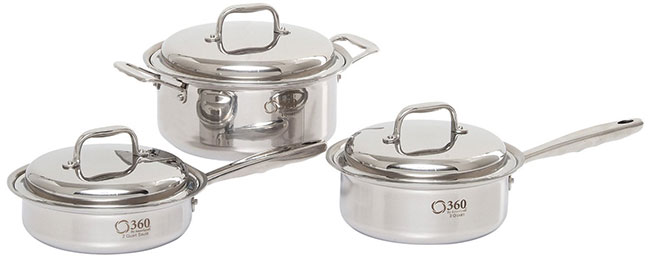 360 Cookware Stainless Steel 6 piece Set