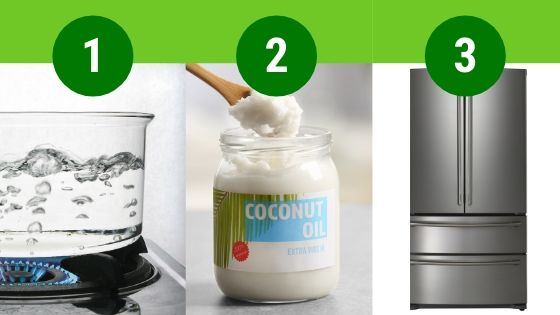 The 3 simple steps to cooking healthier rice: boil water, add coconut oil, refrigerate.
