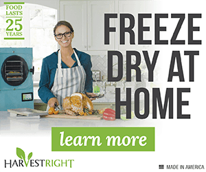 Click here to buy now or learn more about the Harvest Right Home Freeze Dryer