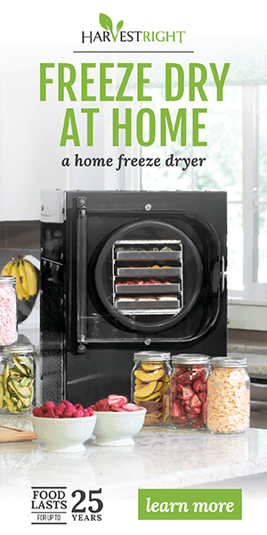 Click to go to Harvest Right and learn more about freeze drying at home.