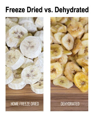 Bananas - the difference between freeze dried vs dehydrated