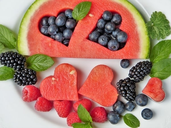 Watermelon and berries - fruit for healthy eating