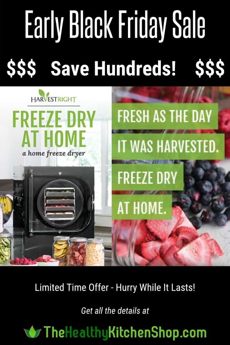 Harvest Right Black Friday Sale - Save Hundreds on a Home Freeze Dryer