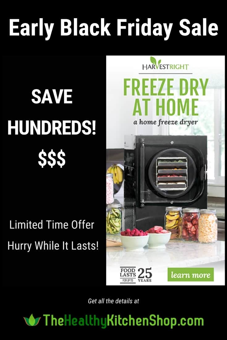 Home Freeze Dryer Sale - Harvest Right Early Black Friday - Limited Time Save Hundreds!