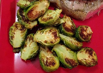 Brussels Sprouts - Air Fryer Recipes at https://www.thehealthykitchenshop.com//