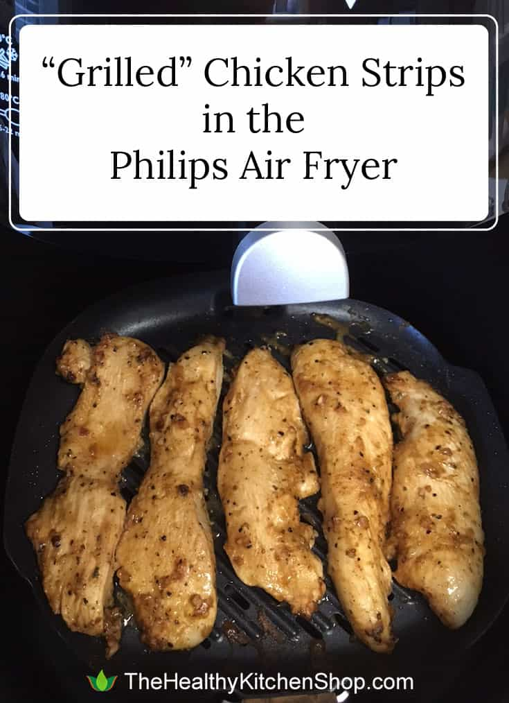 Recipe for Grilled Chicken in the Philips Air Fryer at https://www.thehealthykitchenshop.com/