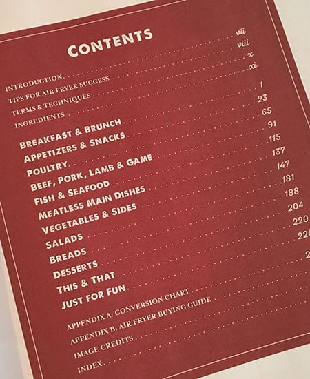 The Air Fryer Bible - Table of Contents