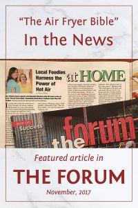 The Air Fryer Bible in the News - featured article in The Forum